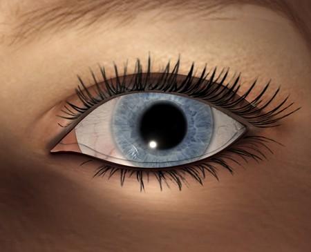 Digital visualization of female eye photo