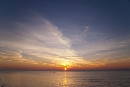 Sunset in Ahrenshoop, Germany photo