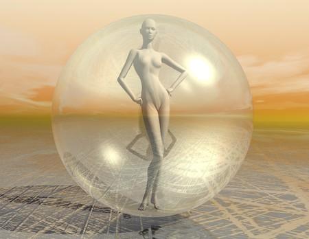 digital visualization of a surreal scene