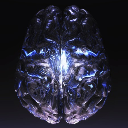virtue: digital visualization oh a human brain Stock Photo