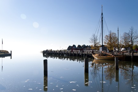 Small fishing port in the morning, Darss, Germany Stock Photo - 8117376