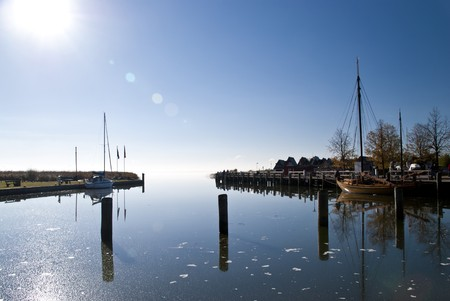 Small fishing port in the morning, Darss, Germany Stock Photo - 8114638