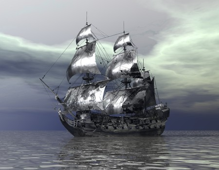 unreal: digital visualization of a ship