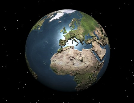 digital visualization of the earth Stock Photo