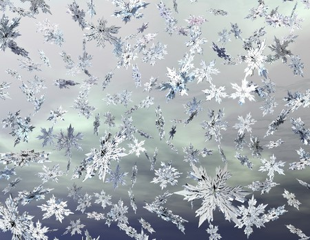 digital visualization of falling snowflakes photo