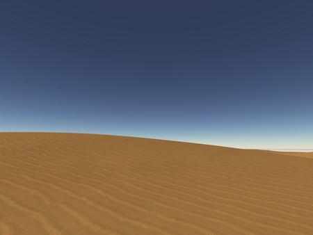 digital visualization of a dune