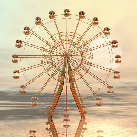 fun fair: digital visualization of a giant wheel