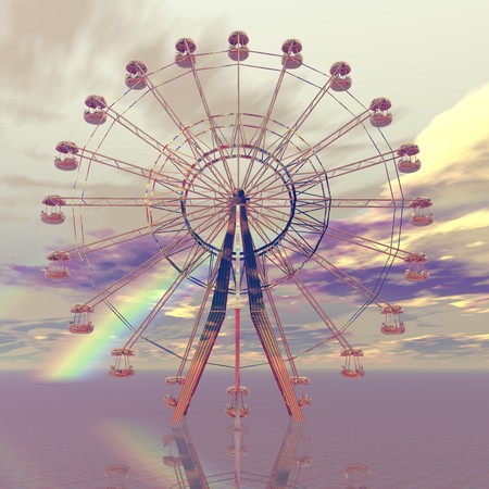 digital visualization of a giant wheel photo