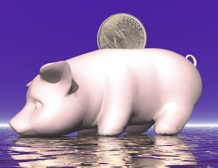 digital visualization of a piggybank Stock Photo - 8117316
