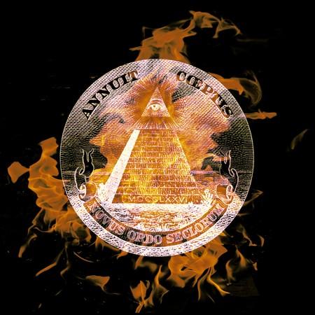 ocultismo: composici�n digital de un s�mbolo de combusti�n