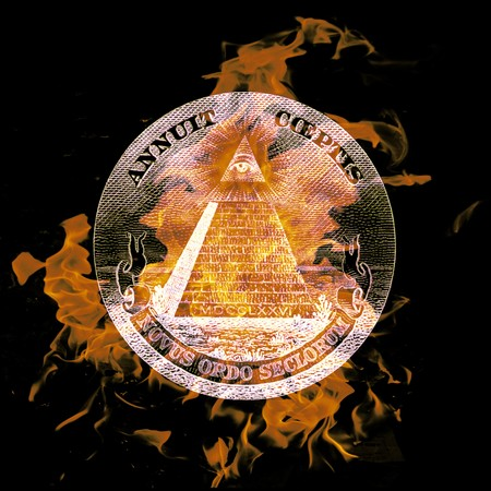 digital composition of a burning symbol