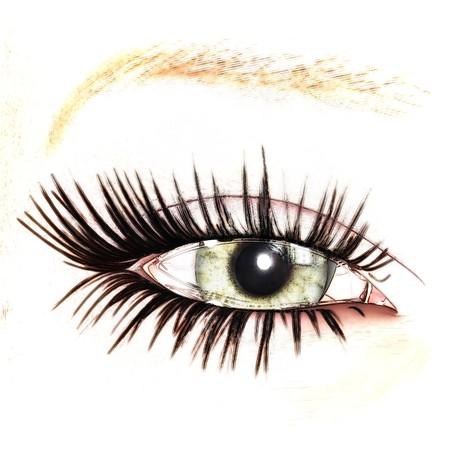 digital visualization of an eye