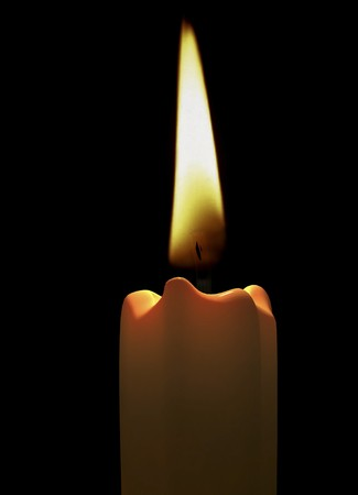 3d rendering  candle light close-up
