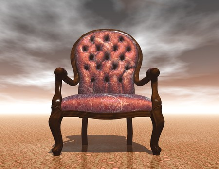 digital visualization of an arm chair Imagens