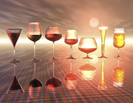 digital visualization of drinks Stock Photo - 8114457