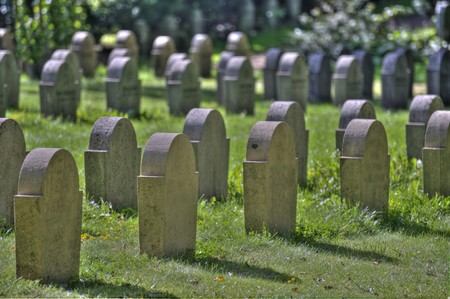 scène sur un ancien cimetière