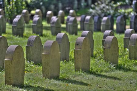 scene on an old graveyard