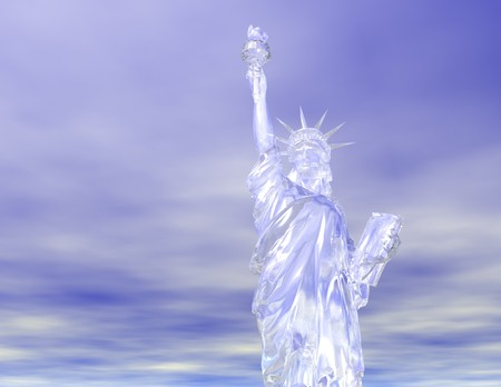 Digital visualization of the statue of liberty