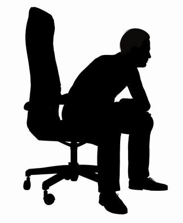 Silhouet van een zakenman