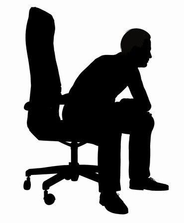 Silhouette of a businessman photo