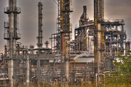 oil refinery near heide  germany photo