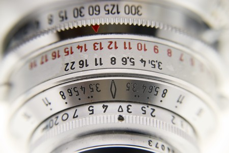 classical mechanics: detail of an old camera
