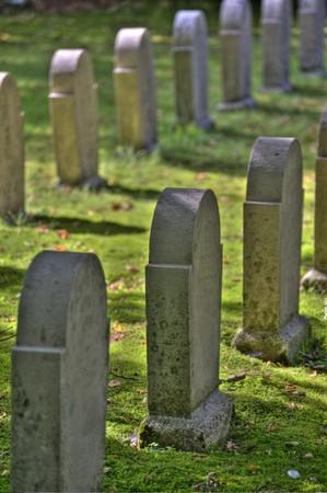 scene on an old graveyard photo