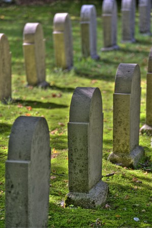 scene on an old graveyard photo