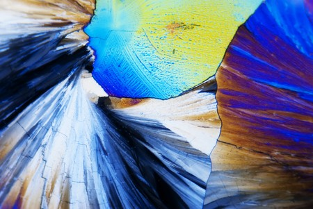 Microcrystals in polarized light photo