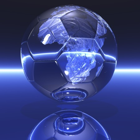 digital visualization: soccer world championship photo