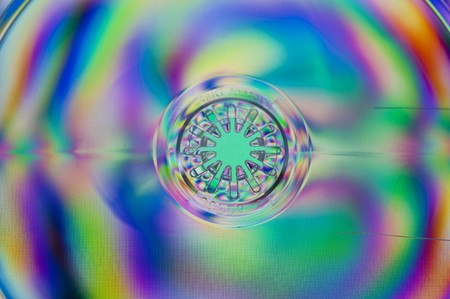 compact disk: compact disk in polarized light