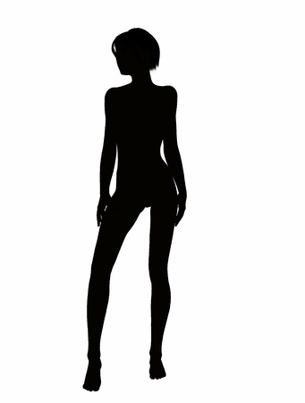 Silhouette of a girl photo
