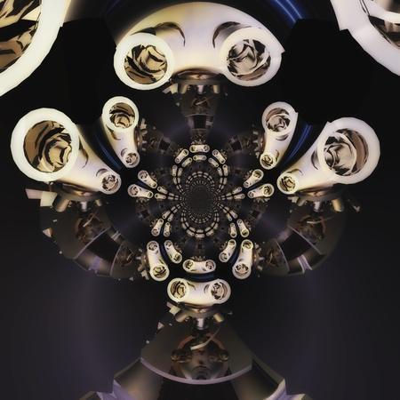Digital visualization of a microscope Stock Photo - 8244842
