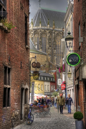 cathedral of aachen, germany (hdr) Stock Photo