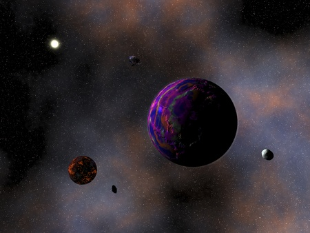 digital rendering of a planet Stock Photo - 8304246
