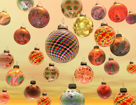 digital visualization of christmas decoration Stock Photo - 8304106