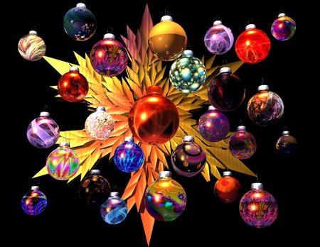 digital visualization of christmas decoration Stock Photo - 8303973