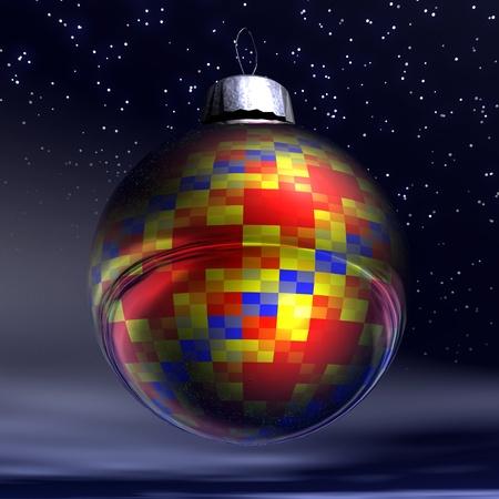 digital visualization of christmas decoration Stock Photo - 8303864