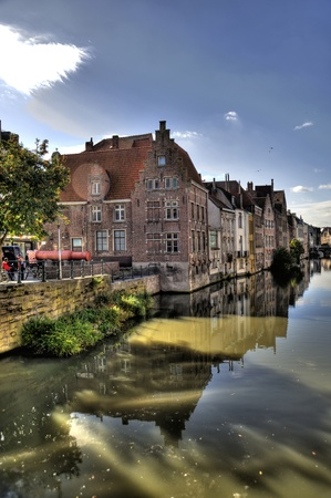 building in the old town of ghent, belgium (hdr) Stock Photo - 8304191