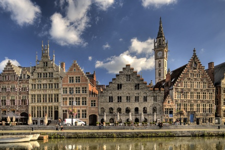 building in the old town of ghent, belgium (hdr)