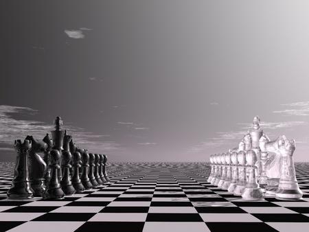 Schachmatt: digitale Visualisierung von einem Schachbrett Lizenzfreie Bilder