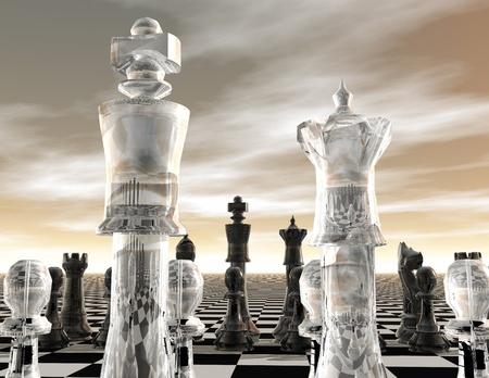 digital visualization of a chessboard photo