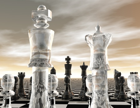 digital visualization of a chessboard Banque d'images