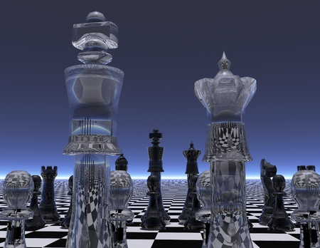 checkmate: digital visualization of a chessboard Stock Photo