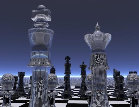 checker board: digital visualization of a chessboard Stock Photo