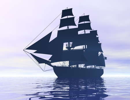 digital visualization of a ship