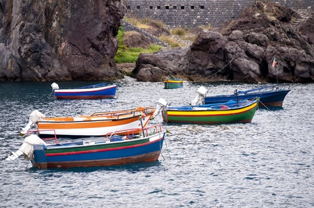 fishingboat: scene in portugal  island of madeira