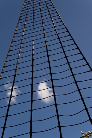 rope ladder: rope ladder in the sky Stock Photo
