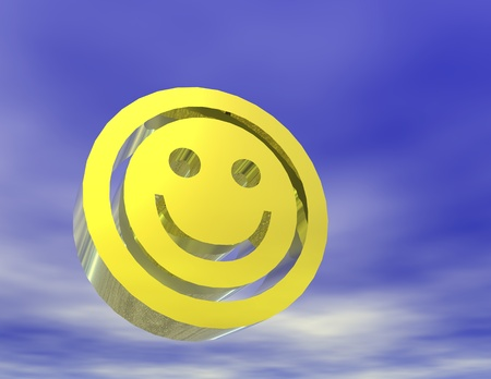 digital rendering of a smiley Banco de Imagens