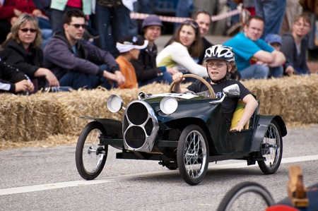 Kiel, Germany - June 20: Soapbox derby on the occasion of the Kiel Week 2010, June 20, 2010 in Kiel, Germany Stock Photo - 8450004